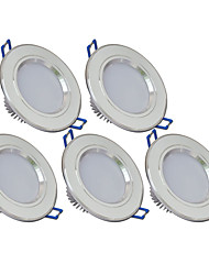 cheap -270lm 6 LEDs Easy Install Recessed LED Downlights Warm White Cold White AC 85-265V