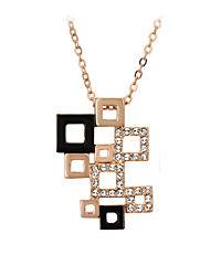 cheap -Crystal Hollow Out Pendant Necklace - Crystal, Cubic Zirconia Personalized, Fashion Silver, Golden Necklace For Wedding, Party, Daily