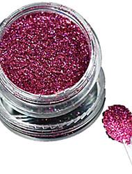 1 Bottle Nail Art Laser Rose Red Glitter Shining Powder Manicure Decoration Nail Beauty L04