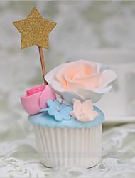 abordables -Décorations de Gâteaux Thème plage / Thème classique Cœur Papier durci Mariage / Anniversaire avec Fleur 10pcs O-phénylphénol