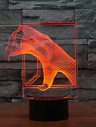 Недорогие -3d иллюзия привели свет ночи атмосфера светодиодные лампы праздник дракона коготь форма свет ночи изменения цвета свет ночи