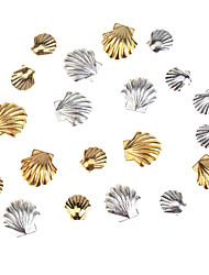 cheap -Accessories Set Kit With 20pcs Gold And Silver Colored 3mm And 5mm Sea Shells Forms  Nail Art 3D Decorations