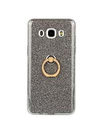 Недорогие -Кейс для Назначение SSamsung Galaxy Кейс для  Samsung Galaxy Кольца-держатели Кейс на заднюю панель Сияние и блеск Мягкий ТПУ для J7 (2016) / J5 (2016) / J3 (2016)