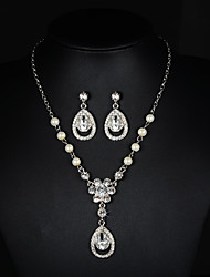 cheap -Women's Rhinestone / Imitation Pearl Jewelry Set - Others Silver