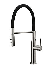 cheap -Kitchen faucet - Contemporary Nickel Brushed Pull-out/­Pull-down Vessel