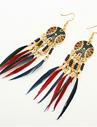 Fashion Feather Earrings Disk PHOTO Street Shooting Accessories