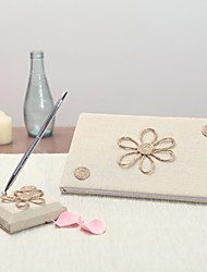 Linen Garden Theme Floral ThemeWithBow Guest Book Pen Set