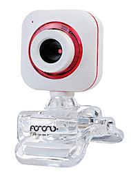 baratos -USB 2.0 de webcam CMOS 0.5m 640x480 30fps vermelho / roxo