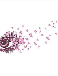baratos -Vida Imóvel Romance Moda Floral Fantasia Adesivos de Parede Adesivos de parede de pessoas Autocolantes de Parede Decorativos, Vinil