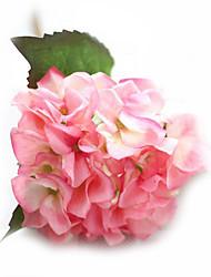 abordables -Fleurs artificielles 1 Une succursale Fleurs de mariage Roses Hortensias Fleur de Table