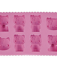 cheap -Cartoon Cat Ice Mould Silicone Ice Cubes Tray Pudding Jelly Mold