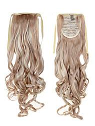 I più venduti lunga coda di cavallo capelli estensioni 22inch 55 centimetri 100g # 18/613 colore misto sintetico cordoncino coda di