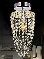 cheap -Flush Mount Modern LED K9 crystal chandelier Chrome 1-light, Kitchen, Dining Room, Bedroom Ceiling Lamp Transparent
