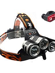 Headlamps Bike Lights Front Bike Light Cree XM-L T6 Cycling Impact Resistant Rechargeable Waterproof Anti Slip 18650 3000 Lumens Battery