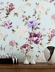 Contemporary Wallpaper Art Deco 3D Ink Flower Wallpaper Wall Covering Non-woven Fabric Wall Art
