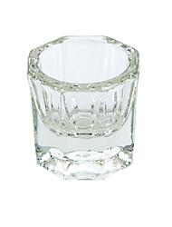 1pcs cristal manucure tasse en verre