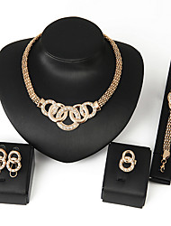 cheap -Women's Bib Jewelry Set - Africa Include Necklace / Earrings / Bracelet Silver / Golden For Wedding / Party / Daily / Ring / Rings / Bracelets & Bangles