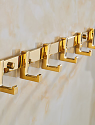 Robe Hook Bathroom Gadget Neoclassical Brass Zinc Alloy 3.5cm 40cm Robe Hook