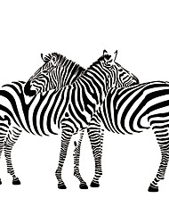 cheap -9504 Cuddling Zebras Animal Vinyl Wall Sticker Removable Decal Wall Paper Home Decor Free Shipping