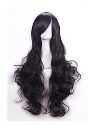 cheap -High Quality 80 Cm Long Wavy Synthetic Hair Wigs Synthetic Wig Women Cosplay Wigs Costume Party Wig