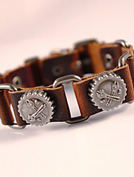 cheap -Special Classical Vintage Mens Leather Braclet Fashion Jewelry For Men Punk Rock