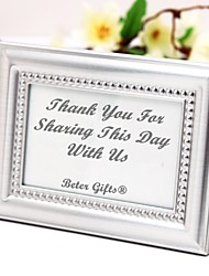 Beter Gifts® Recipient Gifts - 4 x 3 inch, Silver Mini Photo Holder Favor / Escort Place Card Holder Party Décor