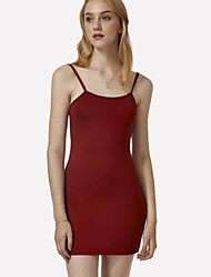 cheap -Women's Classic & Timeless Dress - Solid Colored, Pure Color