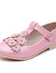 Girls' Shoes Libo New Style Hot Sale Outdoor / Evening / Casual Peep Toe Comfort Loafers Black / White / Pink