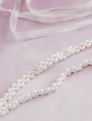 Satin Wedding / Party/ Evening / Dailywear Sash-Beading / Pearls Women's 78 ¾in(200cm) Beading / Pearls