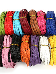 cheap -Beadia 7mm Flat Braided PU Leather Cord Rope String For DIY Jewelry Necklace Bracelet Craft Making(5Mts)
