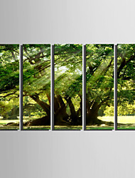 cheap -Landscape European Style, Five Panels Canvas Vertical Print Wall Decor Home Decoration