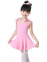 cheap -Ballet Dresses Training Cotton Bow(s) Sleeveless Natural Dress