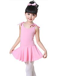 abordables -Danse classique Robes Entraînement Coton Noeud(s) Sans Manches Taille moyenne Robe / Ballet