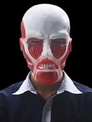 Недорогие -высокое качество натиск гигантской атаки на Титане маски Хэллоуин косплей мультфильм тема латексной маски