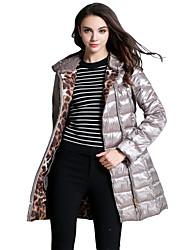 Women's Lightweight Hooded Mid-length Coat Jacket Parkas with Belt