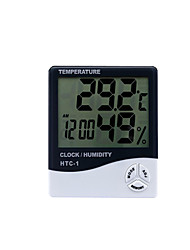 cheap -Digital Thermometer Htc-1 Indoor And Outdoor Electronic Hygrometer Electronic Clock Hygrometer