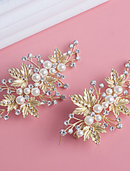 cheap -Pearl Crystal Alloy Hair Clip 1 Wedding Special Occasion Headpiece