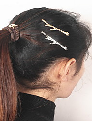 cheap -Gold Leaf Branch Shape Hair Clip Barrette Pins for Lady Casul Hair Jewelry