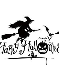 cheap -aw9427 Halloween Shop Glass Window Stickers Wall Stickers Halloween   Home Decor Witch Stickers