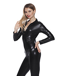 cheap -Women's Plus 3XL 4XL 5XL Size Fat PVC Leather Catsuit Zentai Fancy Dress