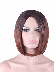 cheap -Best-selling Europe And The United States 10 Inch Wig Dark Brown Gradient BOBO