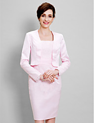 cheap -Long Sleeve Satin Wedding / Party Evening Women's Wrap With Lace Shrugs