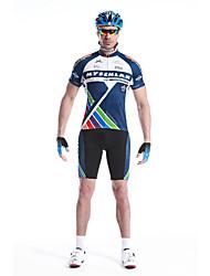 baratos -Mysenlan Homens Manga Curta Camisa com Shorts para Ciclismo - Azul Moto Shorts Camisa/Roupas Para Esporte Conjuntos de Roupas, Secagem