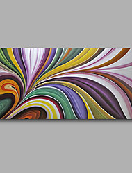 """Stretched (Ready to hang) Hand-Painted Oil Painting 40""""x20"""" Canvas Wall Art Modern Abstract Purple Blue"""