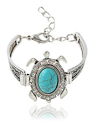 cheap -Bracelet Chain Bracelet Alloy / Resin Animal Shape Bohemia Style Daily / Casual Jewelry Gift Light Green / Silver,1pc