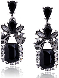cheap -Women's Drop Zircon / Cubic Zirconia / Imitation Diamond Drop Earrings - Luxury / Vintage / Fashion Black Square Earrings For Daily /