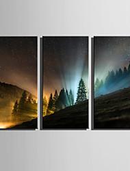 cheap -Landscape European Style, Three Panels Canvas Vertical Print Wall Decor Home Decoration