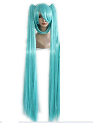 cheap -Synthetic Wig Straight With Ponytail Green Women's Capless Carnival Wig Halloween Wig Cosplay Wig Synthetic Hair