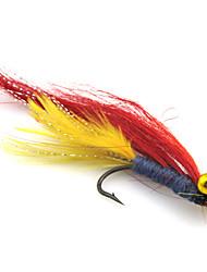 Недорогие -4 штук Рыболовная приманка Мухи Мягкие приманки Перья Нейлон Углеродистая сталь Морское рыболовство Ловля нахлыстом Обычная рыбалка