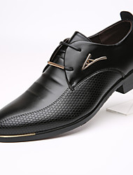 Men's Flats Spring / Summer / Fall / Winter Pointed Toe / Flats Cowhide Office & Career
